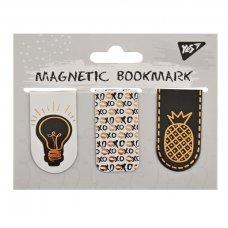 """Закладки магнітні YES """"Golden mark"""", фольга, 3шт"""