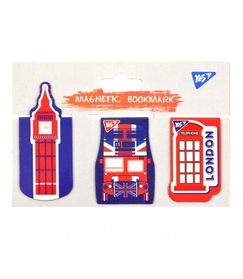 """Закладки магнітні YES """"London"""", висікання, 3шт"""
