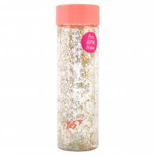 """Пляшка для води YES """"Shine"""", 570 мл, кришка персикового кольору"""