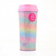 "Тамблер-стакан YES ""Rainbow"",  480 мл, з глiтером"