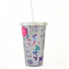 "Тамблер-стакан YES з трубочкою ""Mermaid"", 480 мл"