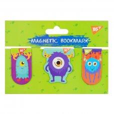 """Закладки магнітні YES """"Monsters"""", 3шт"""