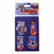 "Закладки магнітні YES ""Football"", 4 шт"