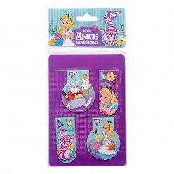 "Закладки магнітні YES ""Alice in Wonderland"", 4 шт"