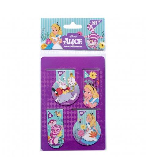 """Закладки магнітні YES """"Alice"""", 4 шт"""