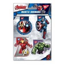 """Закладки магнітні YES """"Marvel"""", висікання, 4шт"""
