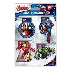 "Закладки магнітні YES ""Marvel.Avengers"", висікання, 4шт"