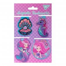 """Закладки магнітні YES """"Mermaid"""", висікання, 4шт"""
