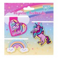 """Закладки магнітні YES """"Unicorn"""", висікання, 4шт"""