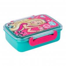 """Контейнер для їжі YES """"Barbie"""", 420мл, з роздільником"""