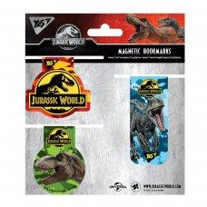 "Закладки магнітні YES ""JURASSIC WORLD"", 3 шт"