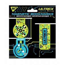 """Закладки магнітні YES """"Ultrex"""", 3 шт."""