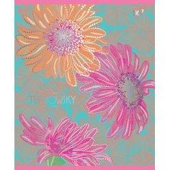 А5 / 12 лін. YES УФ-виб + фольга срібло Turnowsky flowers, зошит