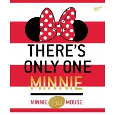 А5 / 12 кос. YES глиттер + фольга золото + софт-тач Minnie Mouse gold, зошит