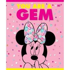 А5 / 12 кл. YES неон + мат. ламінація + софт-тач Minnie Mouse neon, зошит