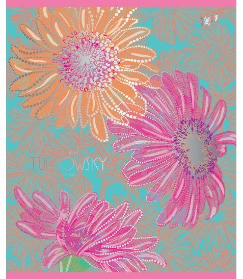 А5 / 12 кл. YES УФ-виб + фольга срібло Turnowsky flowers, зошит