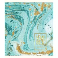 А5 / 24 кл. YES мат. ламінація + фольга золото + гліттер золото Marble, зошит