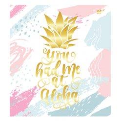 А5 / 24 кл. YES мат. ламінація + фольга золото + гліттер золото Pineapple, зошит