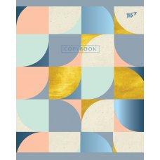 А5 / 24 лін. YES мат. ламінація + фольга синя + УФ-виб. Abstract, зошит