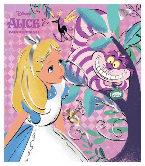 """Зошит для записів А5/18 лін. YES """"Alice in wonderland"""" фольга золото+софт-тач"""