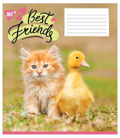 А5 / 18 лін. YES BEST FRIENDS, тетрадь учнів.