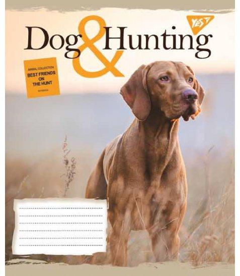 А5/48 кл. YES HUNTING DOG, зошит дя записів