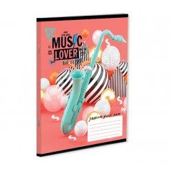 "Нотний зошит А5 12 л. YES ""MUSIC LOVER"""