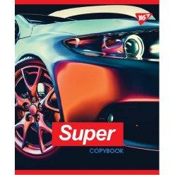 """Зошит для записів А5/24 кл.  YES """"SUPER CAR"""" иридиум+УФ.спл."""