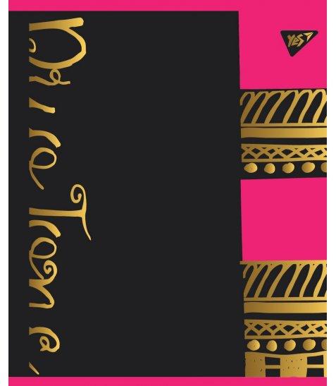 """Зошит для записів А5/24 кл.  YES """"DUO TONE"""" мат. ВДЛ+ Пантон 806С+фольга золото+софт-тач"""