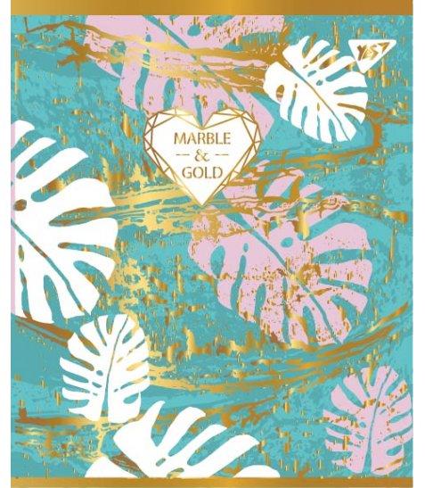 "Зошит для записів А5/24 кл.  YES ""MARBLE&GOLD"" мат. ВДЛ+фольга золото+УФ.виб"