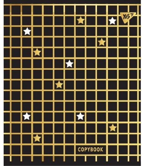 """Зошит для записів А5/24 лін.  YES """"STARS"""" мат. ВДЛ+софт-тач+фольга золото"""