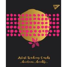 """Зошит для записів А5/48 кл.  YES """"DUO TONE"""" мат. ВДЛ+ Пантон 806С+фольга золото+софт-тач"""