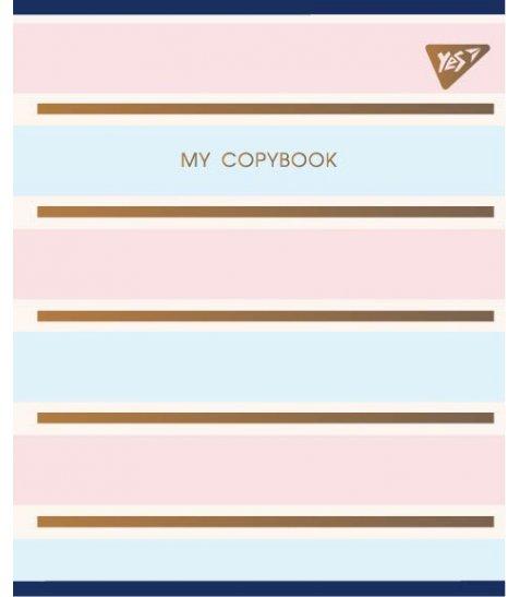 """Зошит для записів А5/48 кл.  YES """"MY COPYBOOK"""" мат. ВДЛ+фольга золото"""