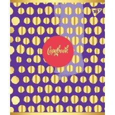 "Зошит для записів А5/48 кл.  YES ""FLOWER"" мат. ВДЛ+софт-тач+фольга золото"