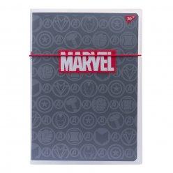 Зошит А4 48 Кл. В Пластиковій Папці З Малюнком Marvel Black