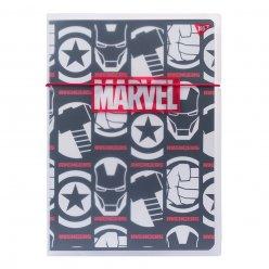 Тетрадь А4 48 Кл. Пластиковая папке с рисунком Marvel Avengers