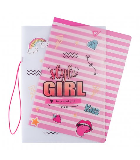 Зошит А4 48 Кл. В Пластиковій Папці З Малюнком Style Girl Pink