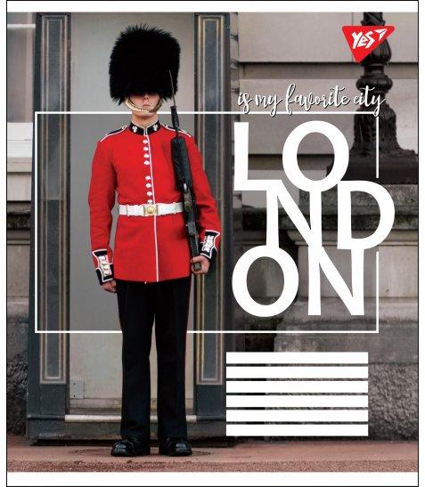 А5/48 кл. YES LONDON, зошит дя записів
