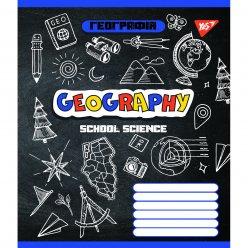 Зошит для записів А5/48 кл. YES ГЕОГРАФІЯ (Doodle board) виб.гібрід.лак