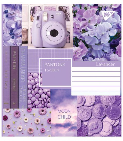 Зошит А5 24 Кл. YES Collage Pantone - фото 3 з 5