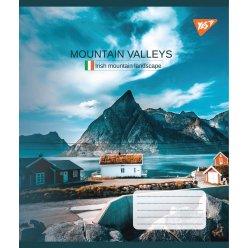 А5/60 кл. YES Mountain valleys, зошит дя записів
