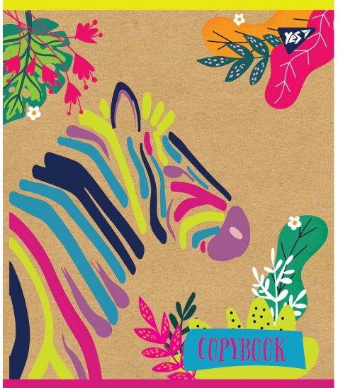 """Тетрадь для записей А5/24 кл. YES """"Rainbow animal"""" крафт, белила"""