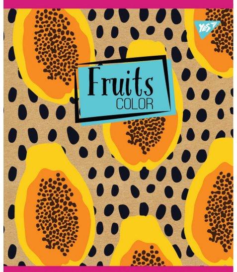 "Тетрадь для записей А5/48 кл. YES ""Fruits color"" крафт, белила"