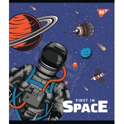 """Зошит для записів А5/12 кл. YES """"Galaxy exploring """" виб.гібрід.лак"""