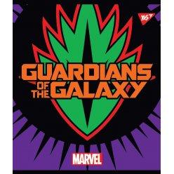 """Зошит для записів А5/12 кл. YES """"Marvel. Hero shields"""" неон+софт-тач"""