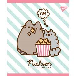 """Зошит для записів А5/18 кл. YES """"Pusheen. Sweet cat""""  УФ-виб.+глітер+софт-тач"""