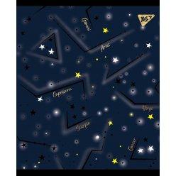 """Зошит для записів А5/24 кл. YES """"Cosmic system"""" фольга золото+софт-тач+УФ-виб."""