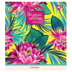"""Зошит для записів А5/24 кл. YES """"Tropical paradise"""" неон+софт-тач"""