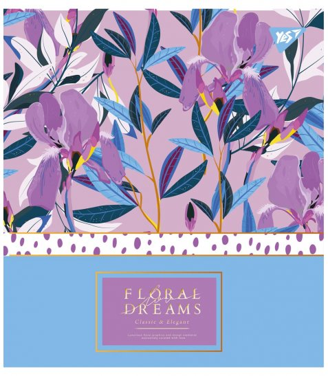 Зошит А5 48 Кл. YES Floral Dreams