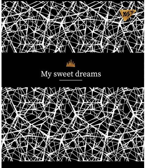 Зошит А5 48 Лін. YES Black Abstract - фото 2 з 5
